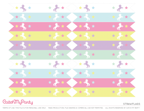 Free Unicorn Party Printables Strawflags Catchmypartycom Dogum
