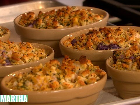 Chris Hastings makes rich, creamy cauliflower gratin with roasted chestnuts.