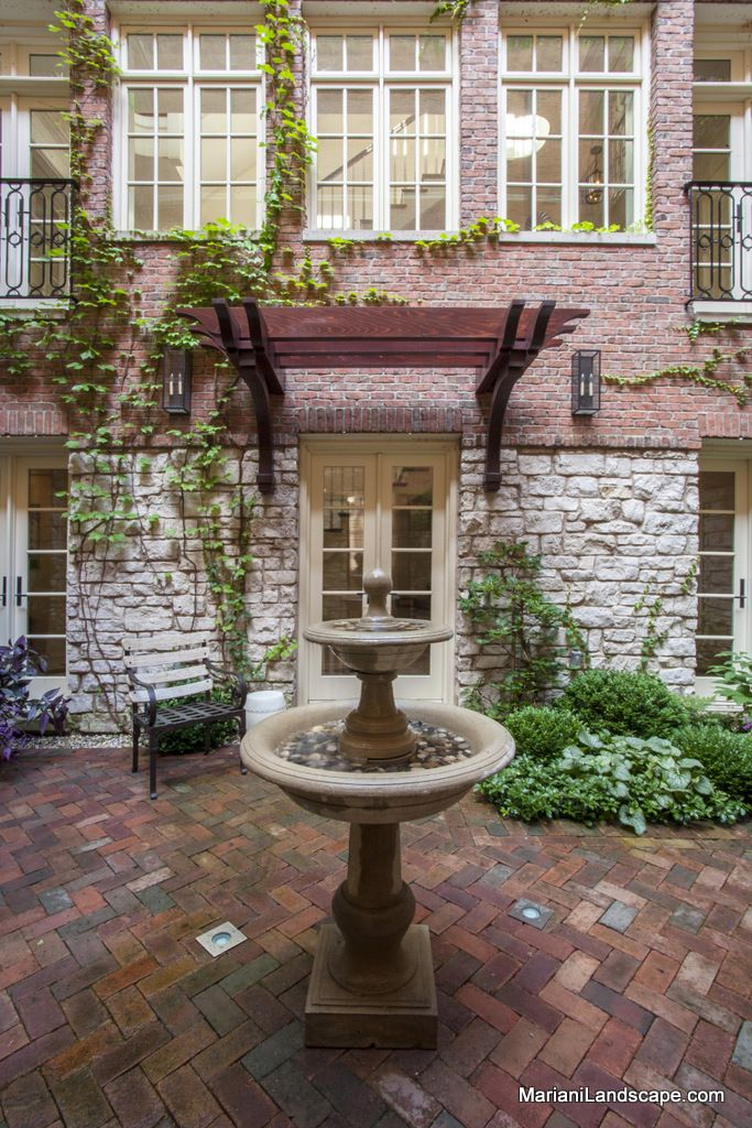 French courtyard garden design in the garden with for French style courtyard ideas