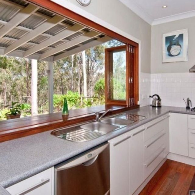Bringing The Outdoors In Kitchen Dining Great Room: Window To Replace Kitchen Side Slider Idea