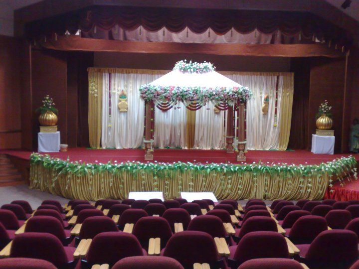 Bangalore stage decoration design 343 wedding stage for Auditorium stage decoration