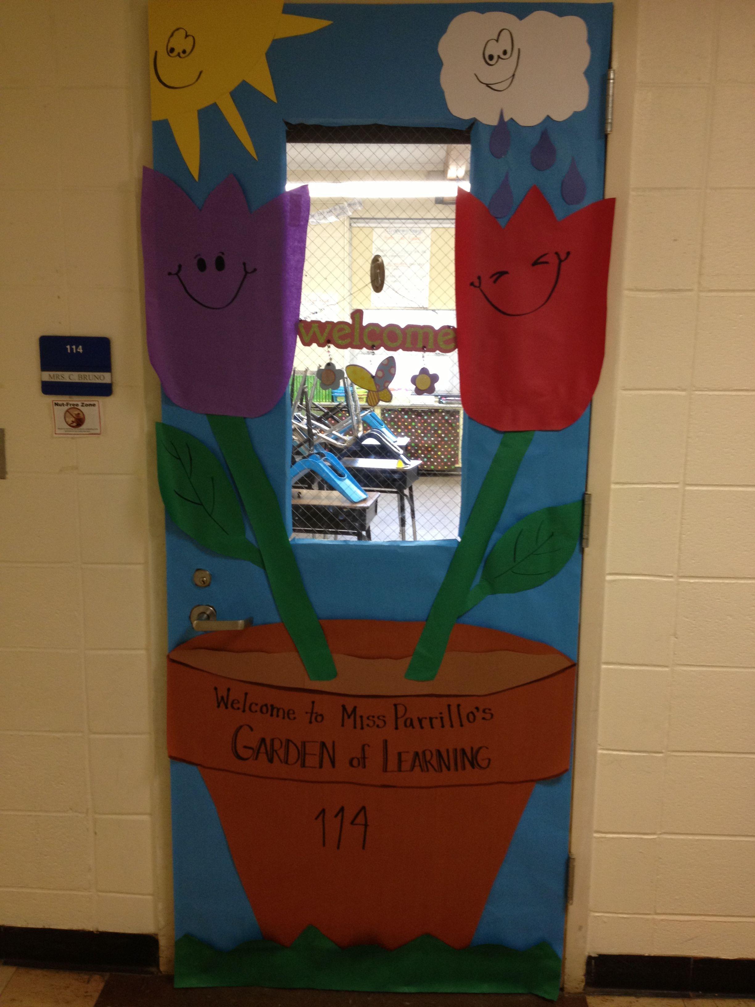 April Showers Bring May Flowers Door Decor Diy Classroom