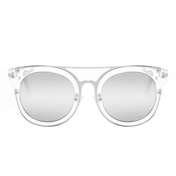 50a71789230c7 Quay Australia Quay Brooklyn Sunglasses Clear ( 41) ❤ liked on Polyvore  featuring accessories