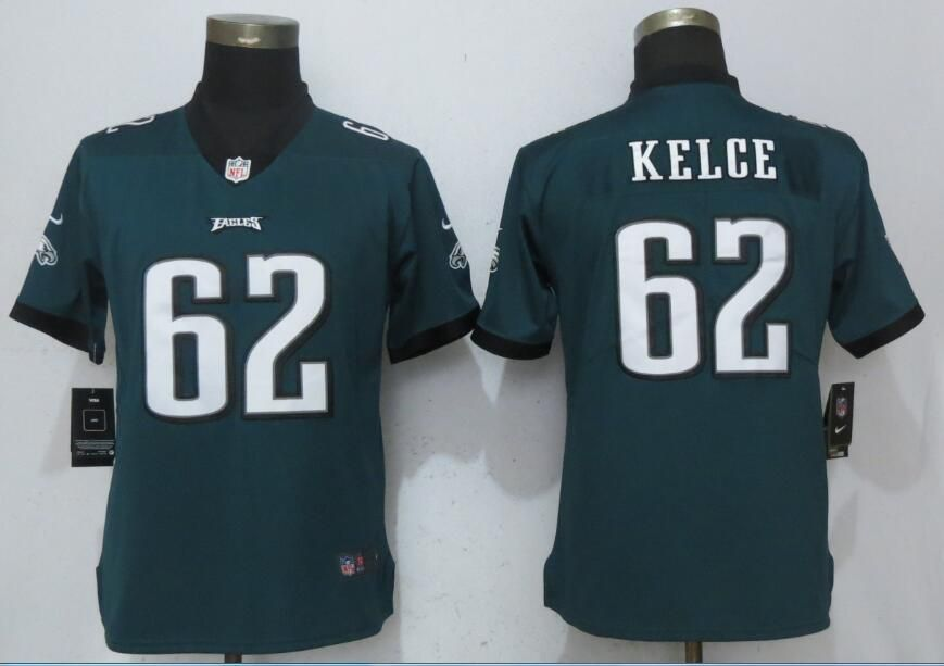 Women Philadelphia Eagles 62 Kelce Green Vapor Untouchable Nike Player NFL  Jerseys 6cb1f284f0