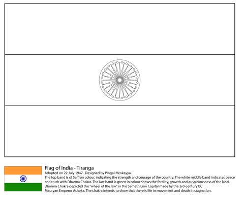 Flag of India Coloring page Creating