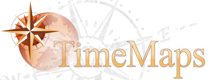 TimeMaps products use a combination of timelines, maps, and