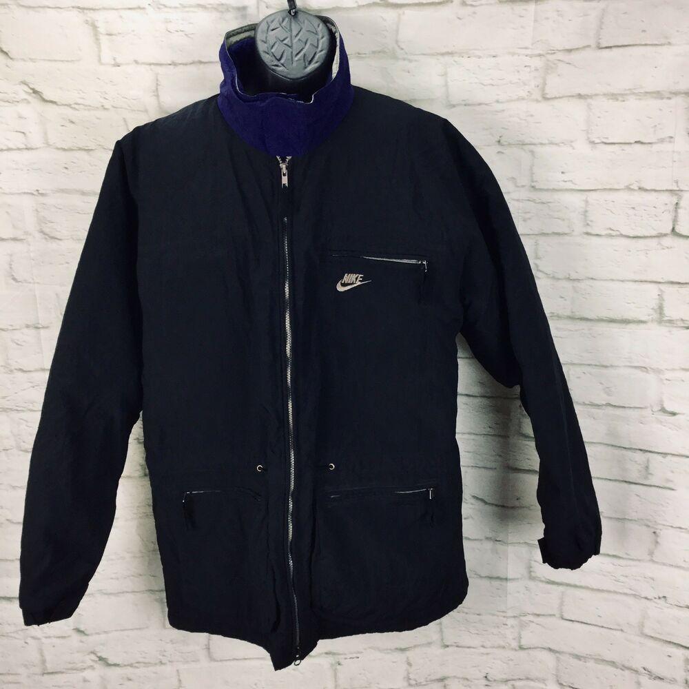 b1f3b78912916 NIKE ACG Fleece Lined Full Zip Jacket Coat Mens Large Black Purple ...