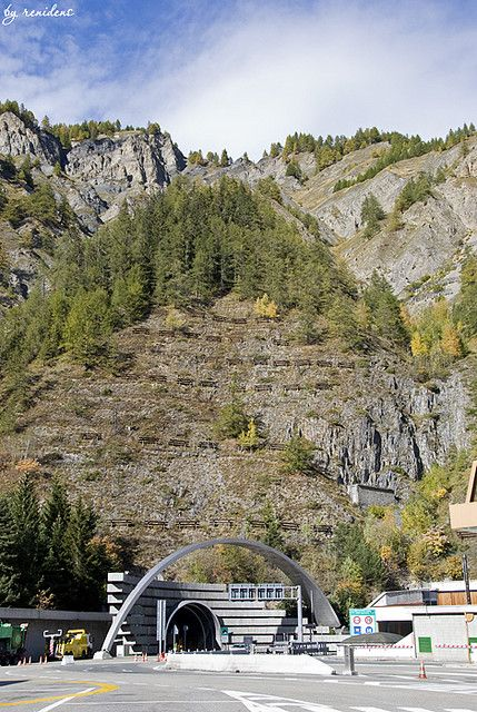 Entrance to the Mont Blanc Tunnel (from the Italian side in Valle d'Aosta)