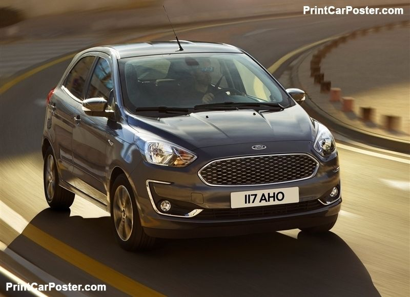 Ford Ka Plus 2019 Poster Ford City Car Vw Up