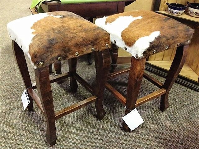 Tri Color Cowhide Bar Stool Western Bar Stools Amp Bar