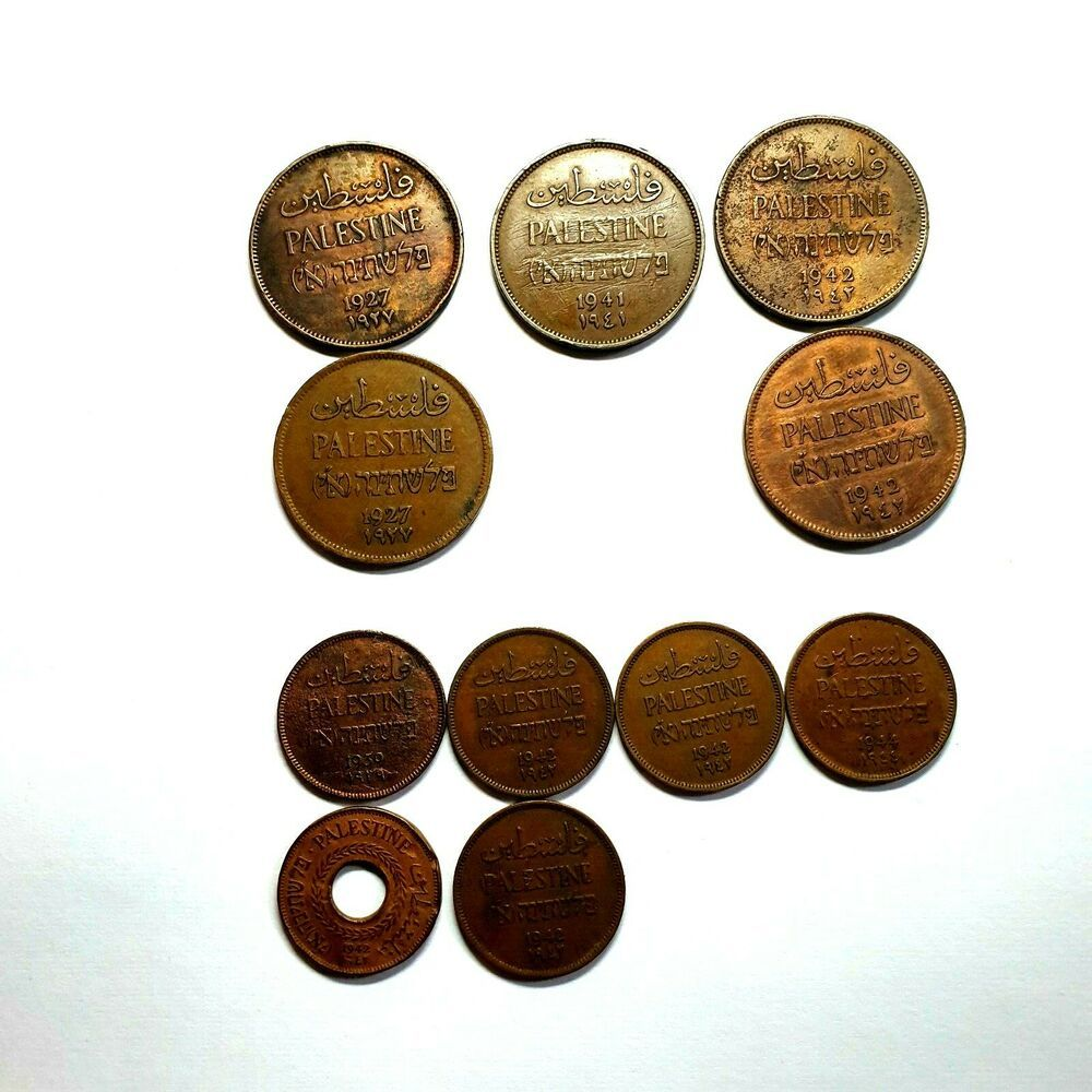 1944-1967 Lot of 11 Different Great Britain 1 Penny Coins