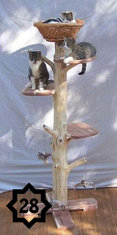 50 Ways To Upcycle Tree Branches And Logs Living Vintage Diy Cat Tree Cat Tree Cat Tree House