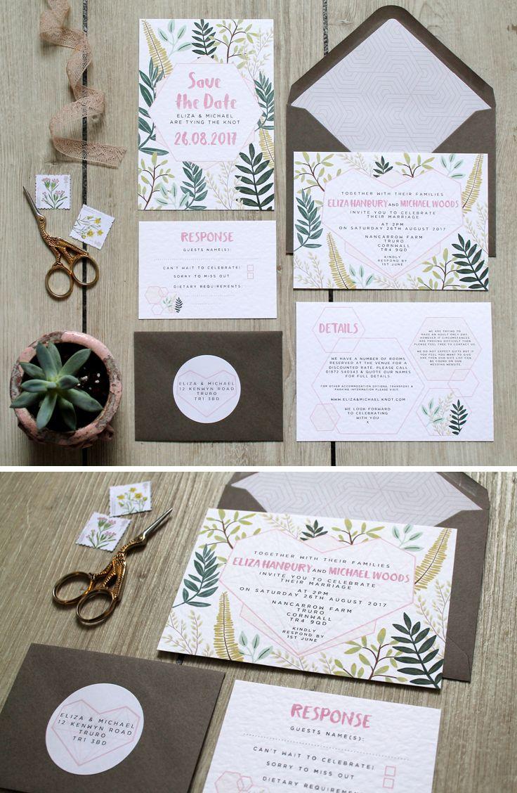 Pink & Grey GlassHouse Range // Geometric Botanic Wedding ...