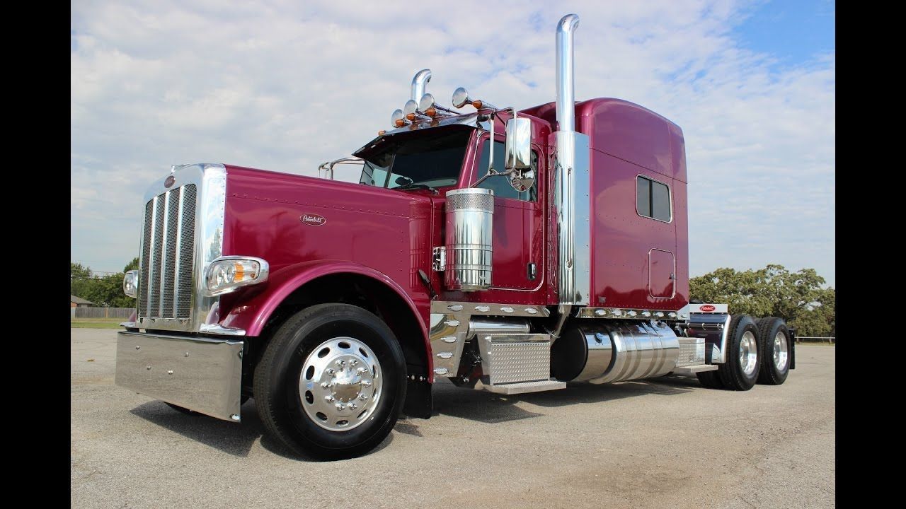 2017 peterbilt 389 grape metallic 550 hp 18 speed owner operator 3 axle disc brakes