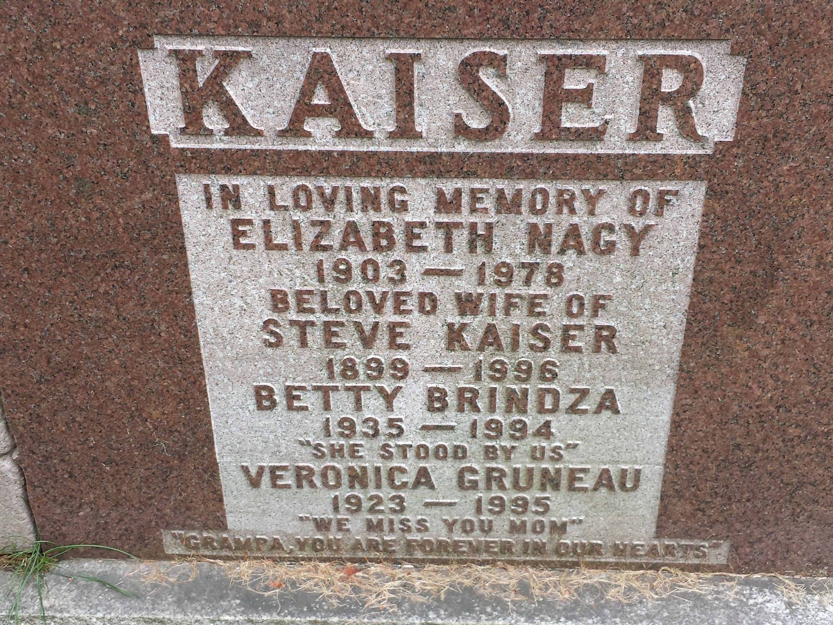 Headstone Of My Grandparents And Their Children Including