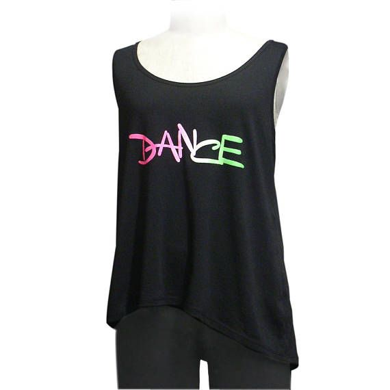 8dab9eb1fdc6 Girls Dance Tank Top - Black. Youth Large. Colorful Shirt For Dancer ...