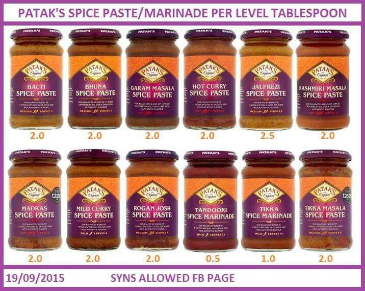 Curry Paste Syns Slimming World Curry Slimming World Diet