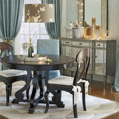 Hayworth Mirrored Silver Buffet Table  Buffet Dining And Room Impressive Pier One Dining Room Furniture Inspiration Design