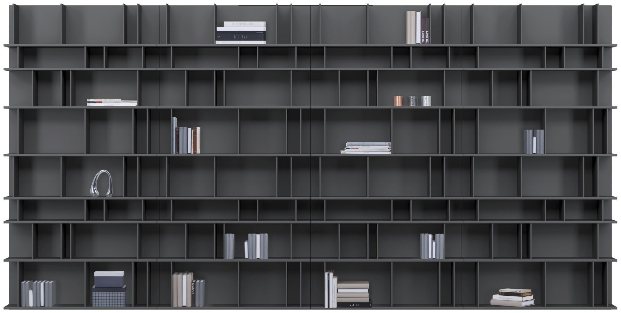 Modular Bookcase Wall Mounted Contemporary Metal Como By Morten Georgsen Boconcept