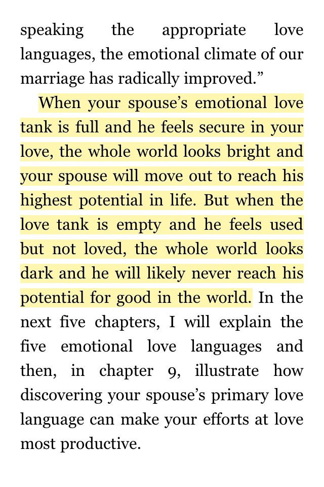 Another 5 Love Languages Excerpt