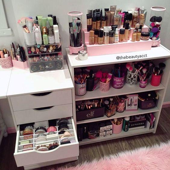 10 Idées De Rangements Maquillage Naked Pinterest Makeup Rooms