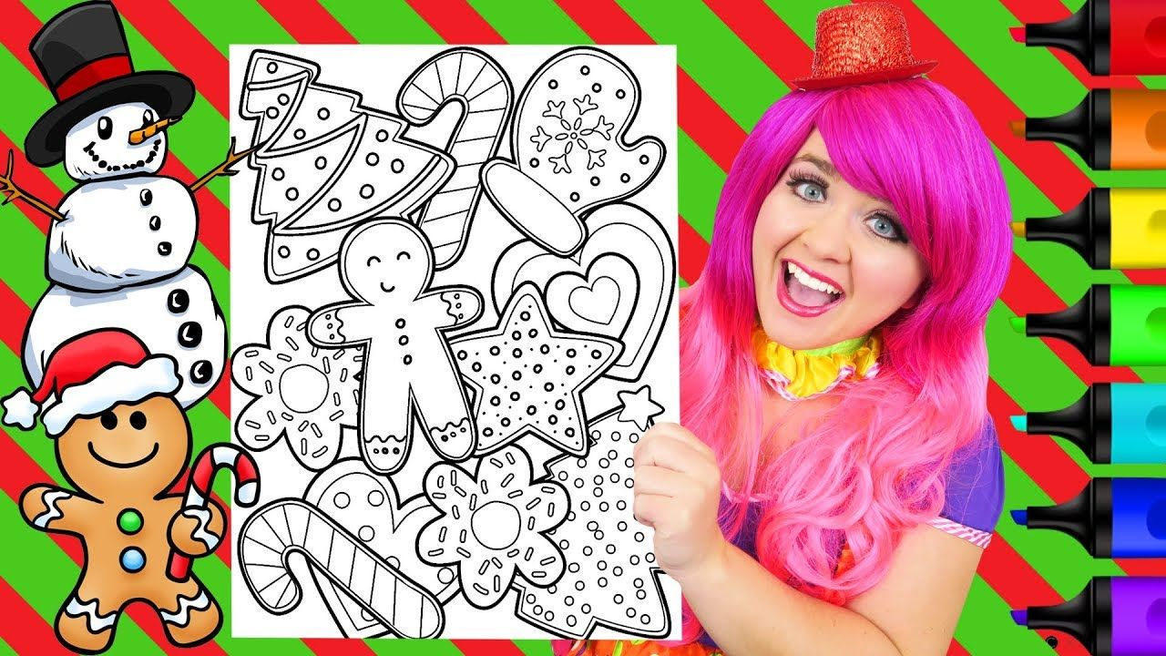 Coloring Christmas Cookies For Santa Coloring Page Prismacolor