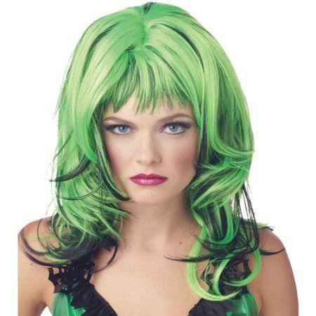 Hard Rockin Witch Adult Halloween Wig Walmart Com Green Wig