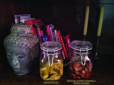 Liquore zenzerello e non solo trovate anche una seconda ricetta l'elisir di bacche di rosa canina e petali di rosa, delizia del palato.
