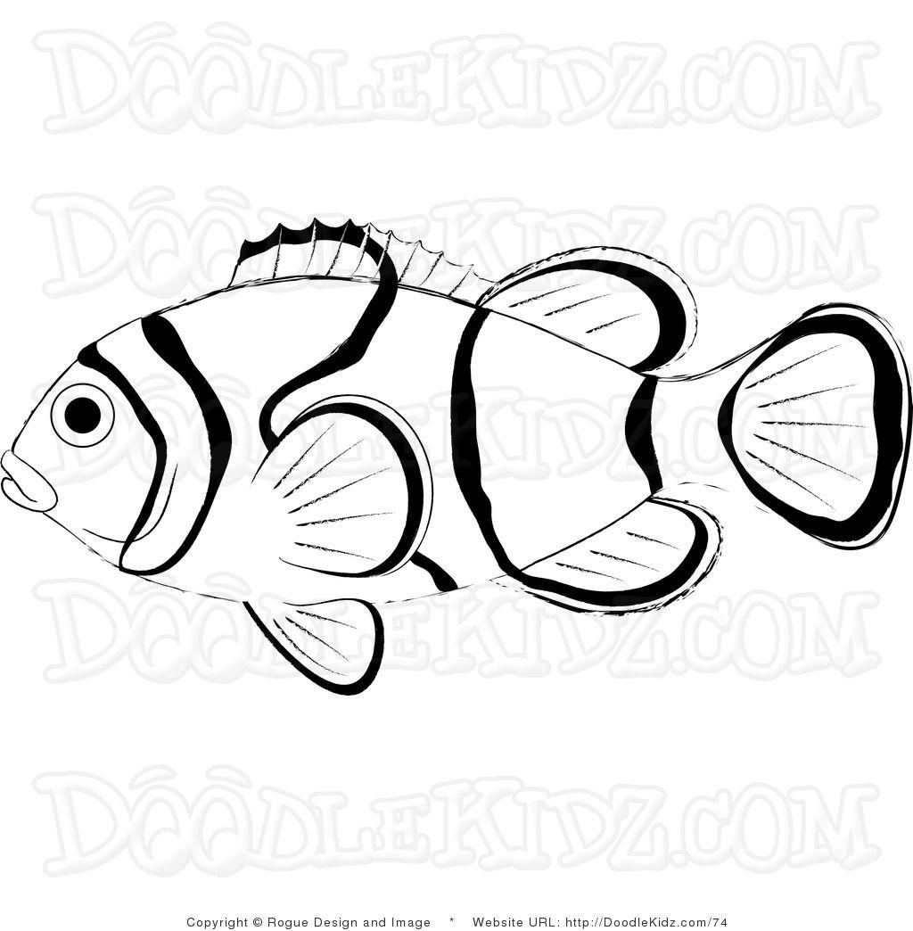 Clown Fish Fish Coloring Fish Coloring Pages Fish Coloring Page