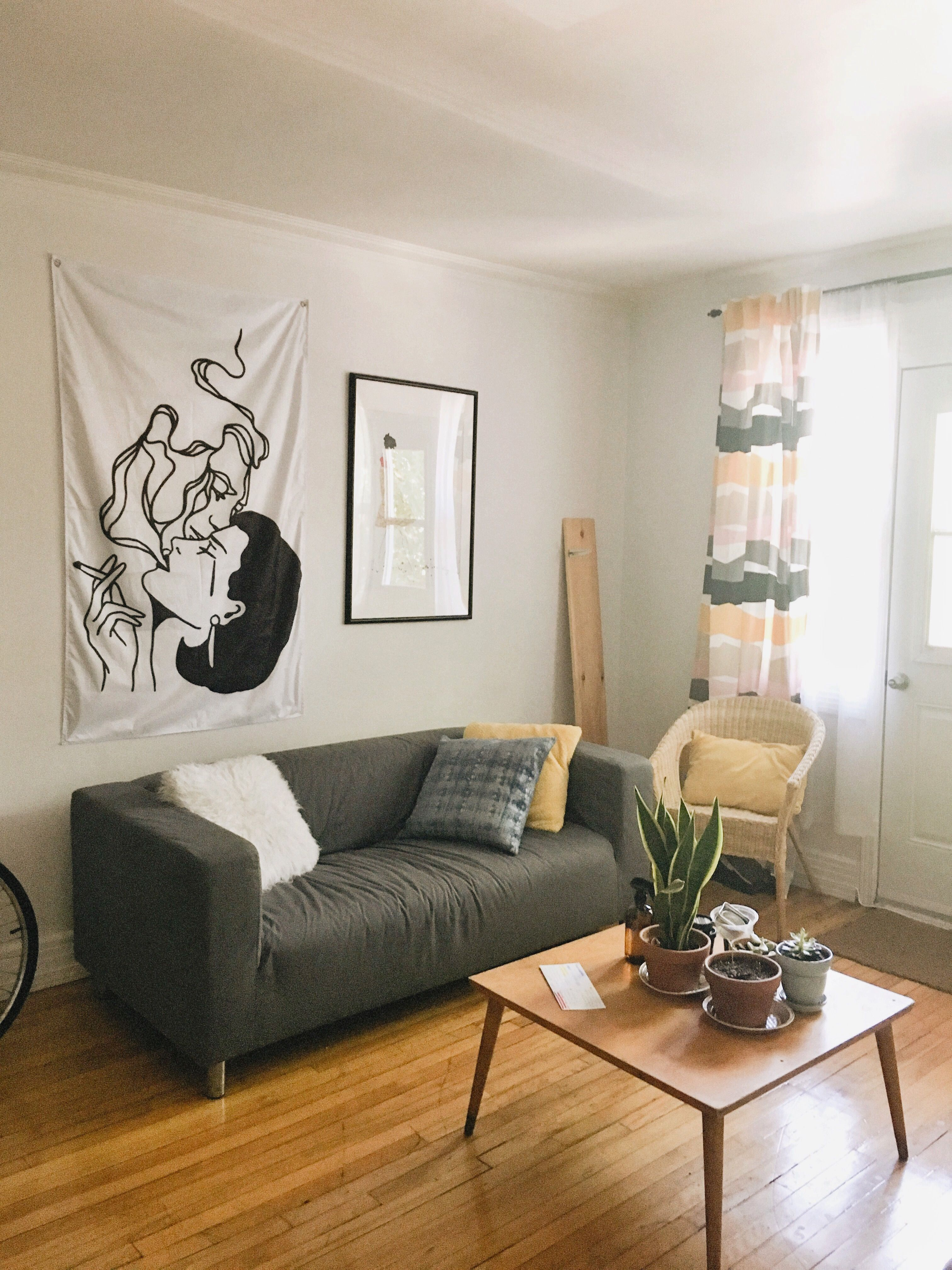 Sofa, right frame, curtains and chair from IKEA Canada