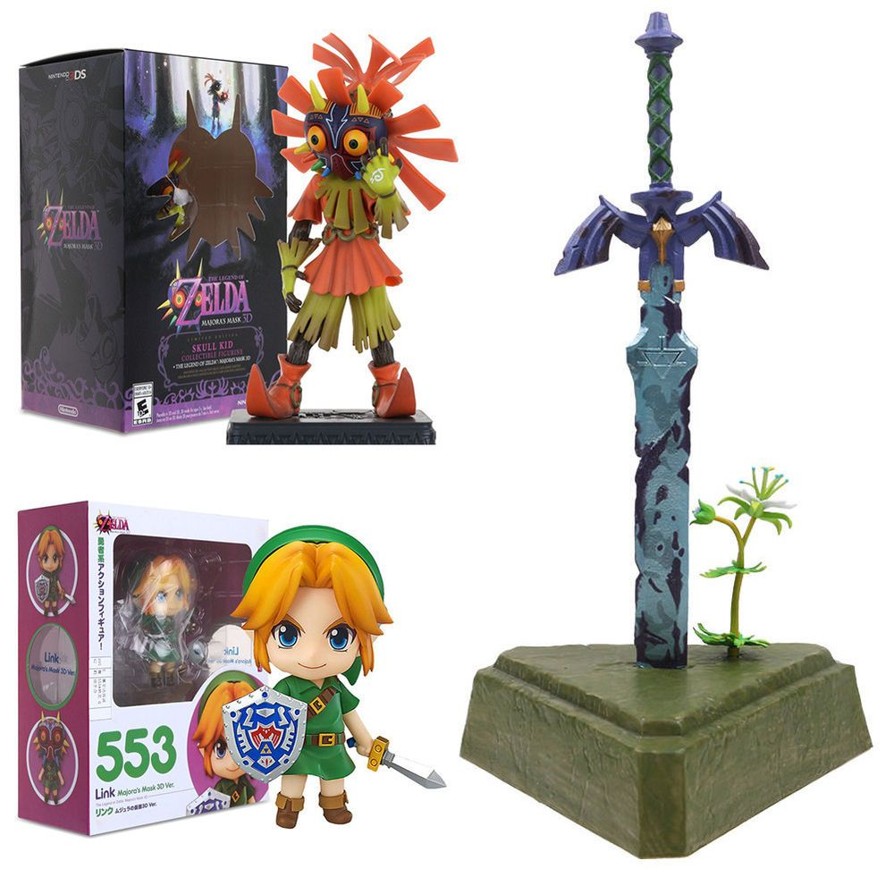 With Box The Legend of Zelda Breath of the Wild Swing Mascot Master Sword Statue