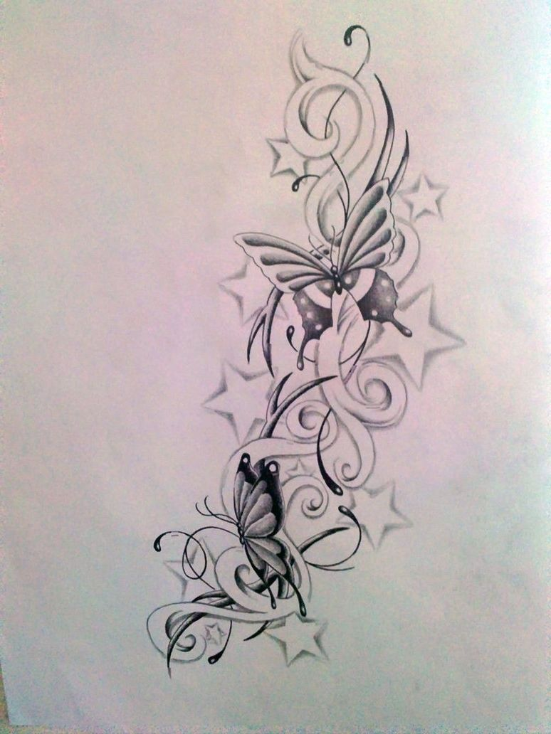 Butterfly star tattoo designs - Butterflies And Stars Tattoos Designs Butterflies And Stars Tattoos