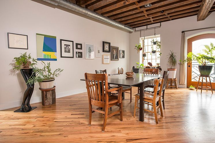 Industrial Dining Room by Bright Common Architecture & Design