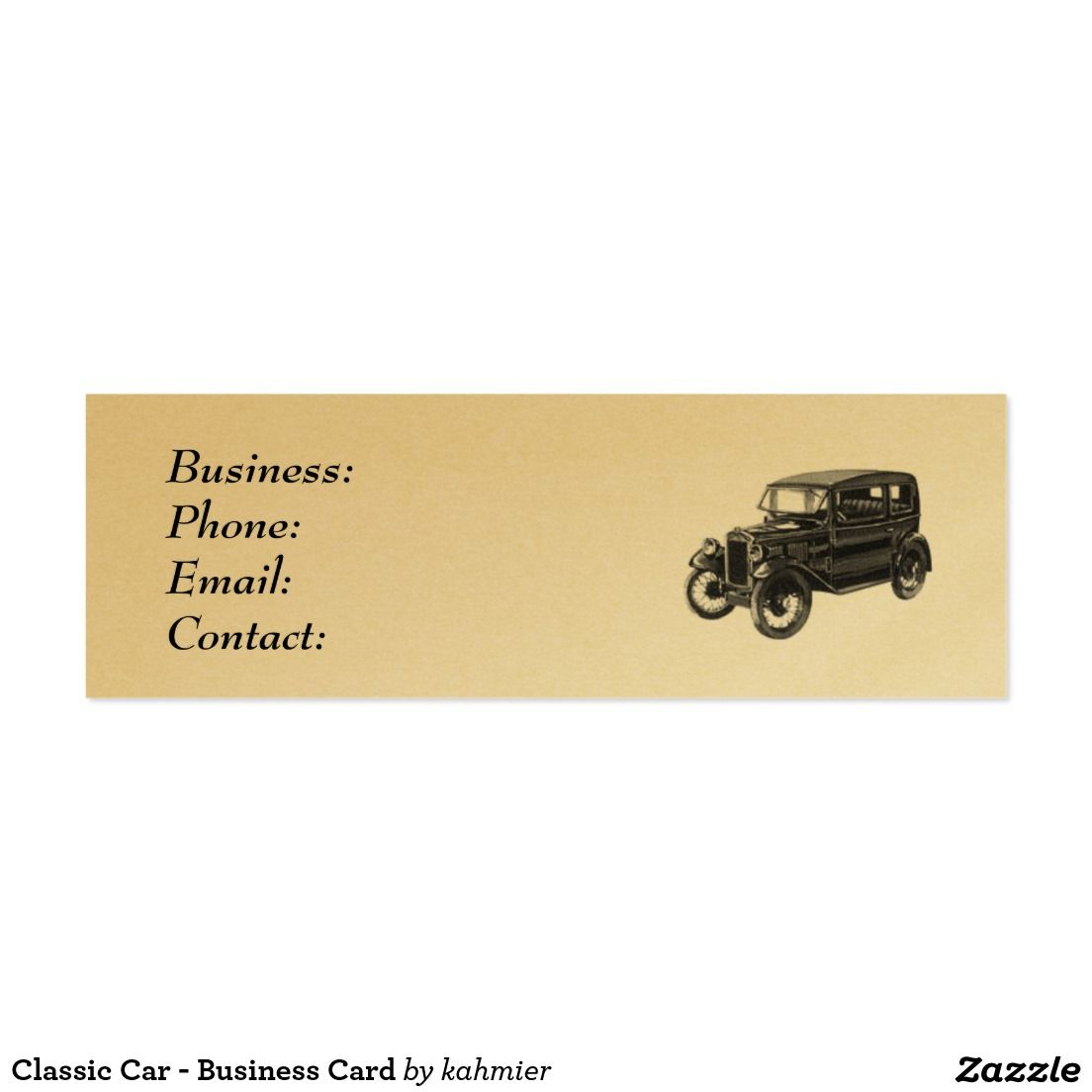 Classic Car - Business Card | Business cards and Business