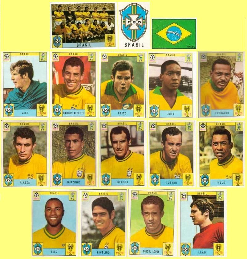 Campeonato Brasileiro Key Missing Players: Panini Stickers 1970 FIFA World Cup Mexico