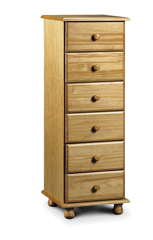Best Julian Bowen Pickwick 6 Drawer Narrow Chest Solid Pine 640 x 480