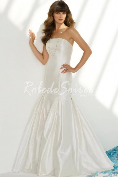 Robe de Mariée 2013-Bow bretelles en taffetas robe de mariée sirène