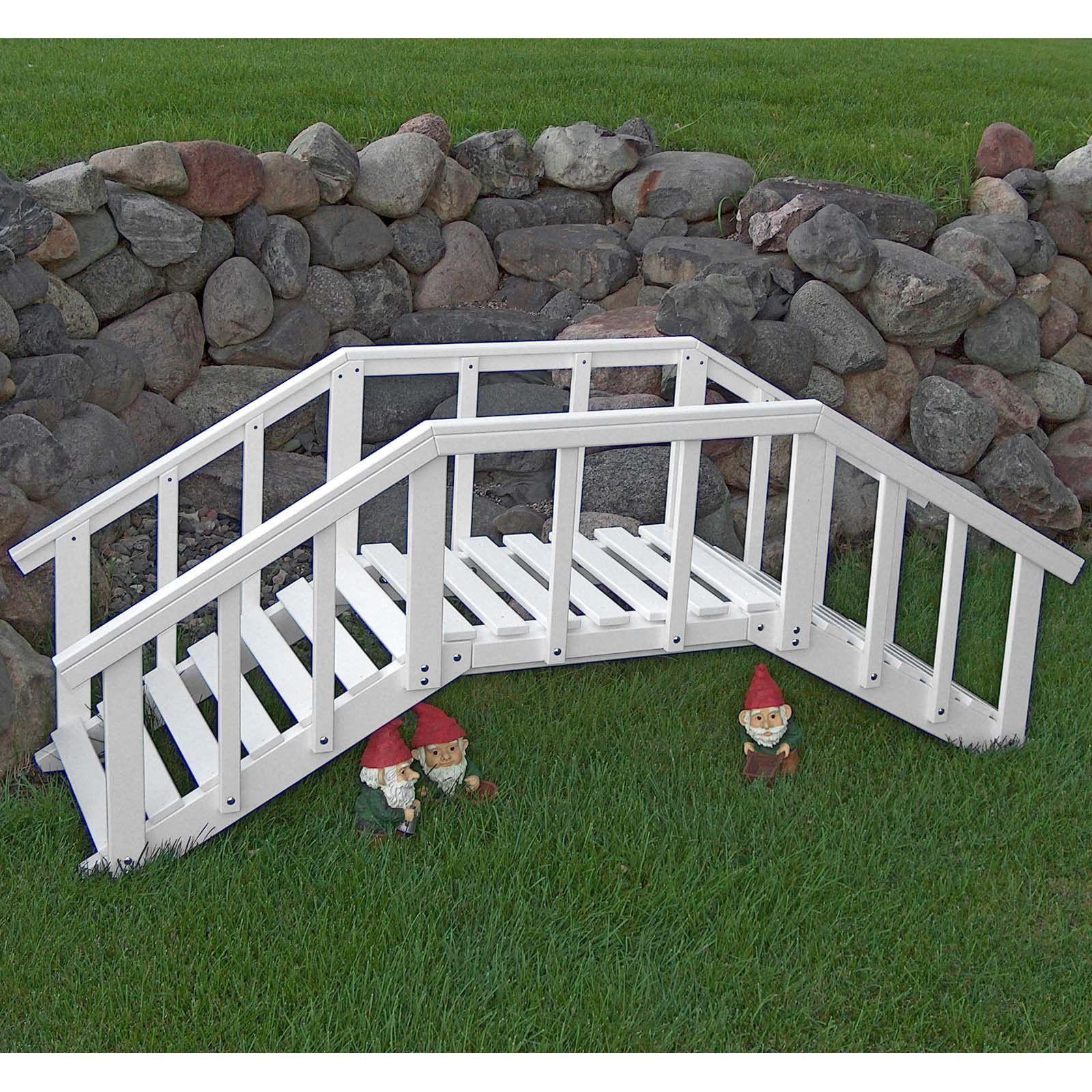 Prairie Leisure Ornamental 6.5-ft. Decorative Garden Bridge | Bridge ...