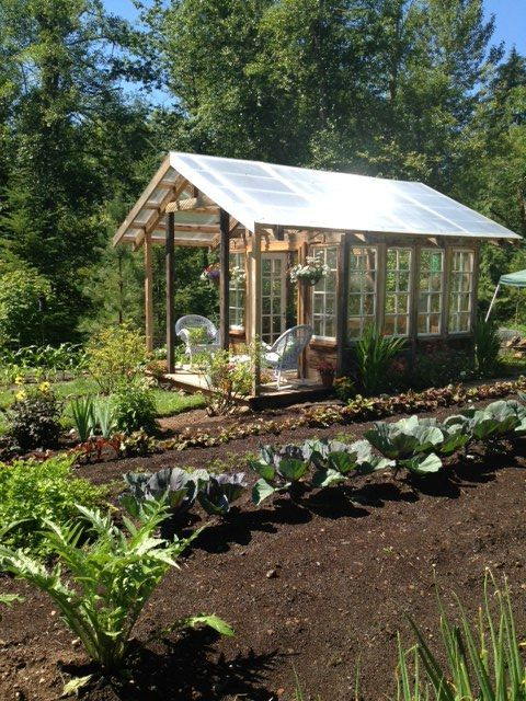 Greenhouse From Reclaimed Timber And Vintage Multipane