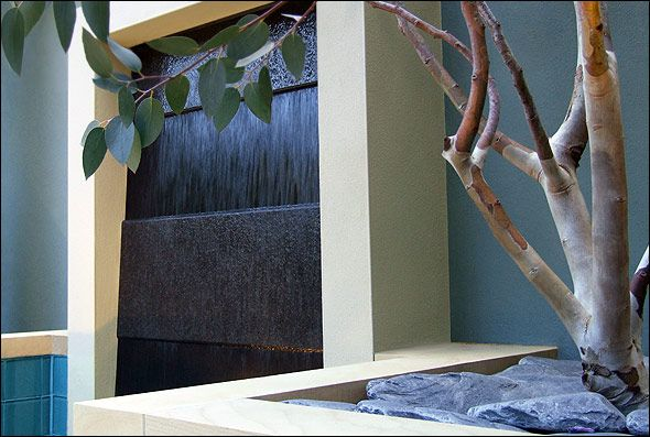 contemporary water features by MyLandscapes London garden designs