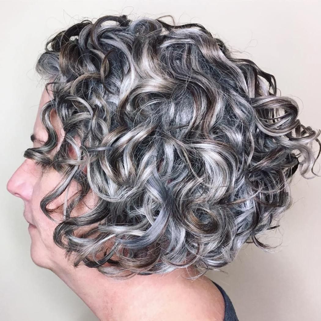 50 Stunning Haircuts for Gray Hair in 2020   Grey curly ...