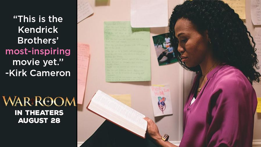 From the award-winning creators of Fireproof and Courageous comes WAR ROOM, a compelling drama with humor and heart that explores the power that prayer can have on marriages, parenting, careers, friendships, and every other area of our lives. WAR ROOM is in theaters on August 28, 2015!