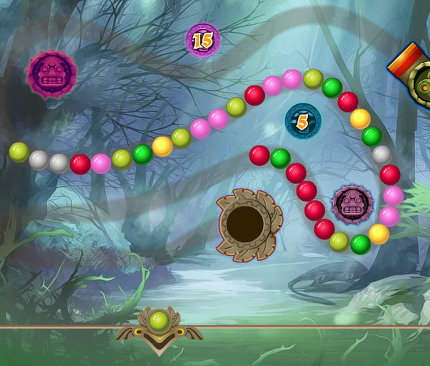 Color zuma game - All New Levels For This Fun And Colorfull Zuma And Marble Popper Game Shoot Marbles Into The Chain And Connect 3 Or More Of The Same Marbles