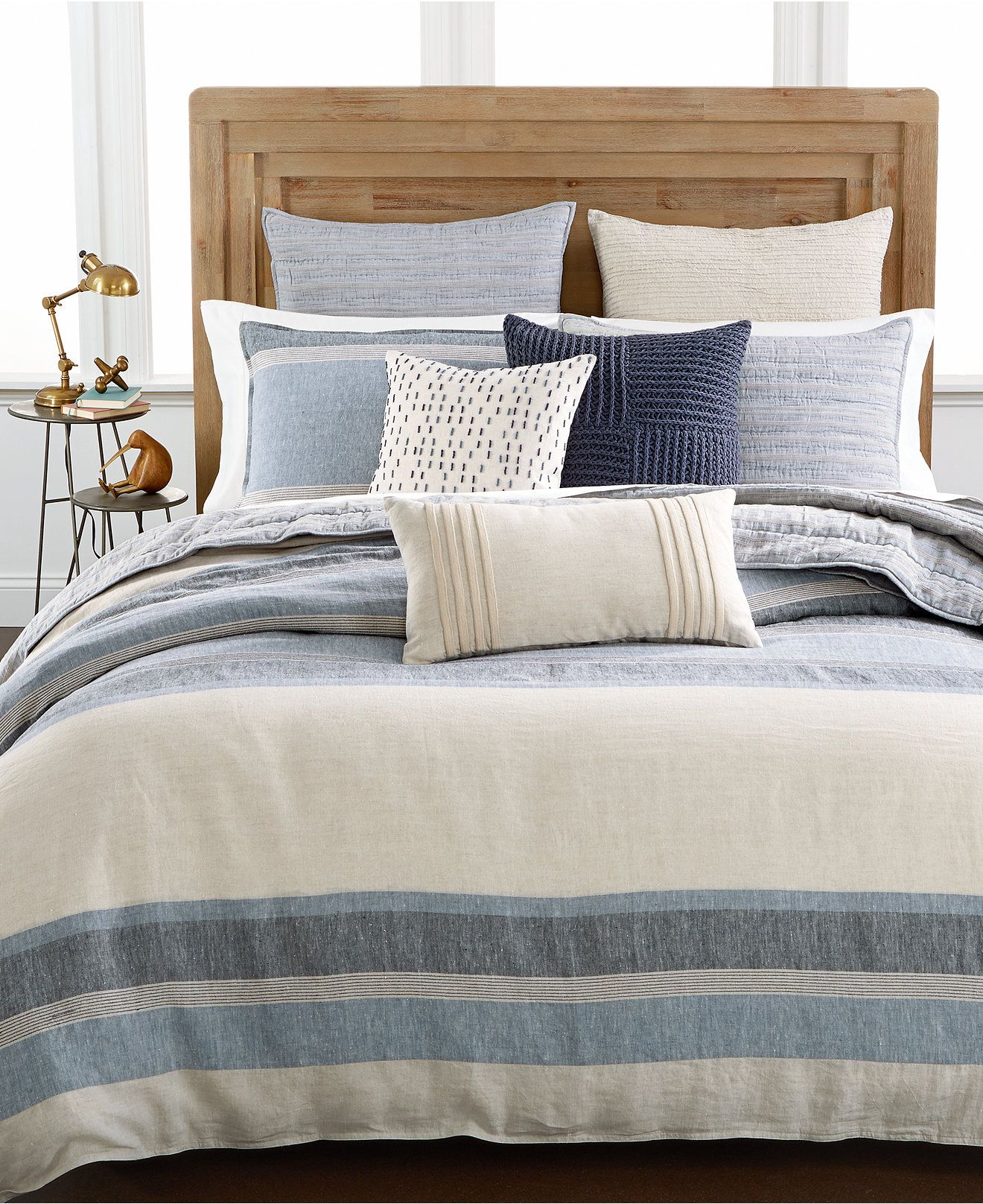 Hotel Collection Linen Stripe Duvet Covers, Only at Macy's