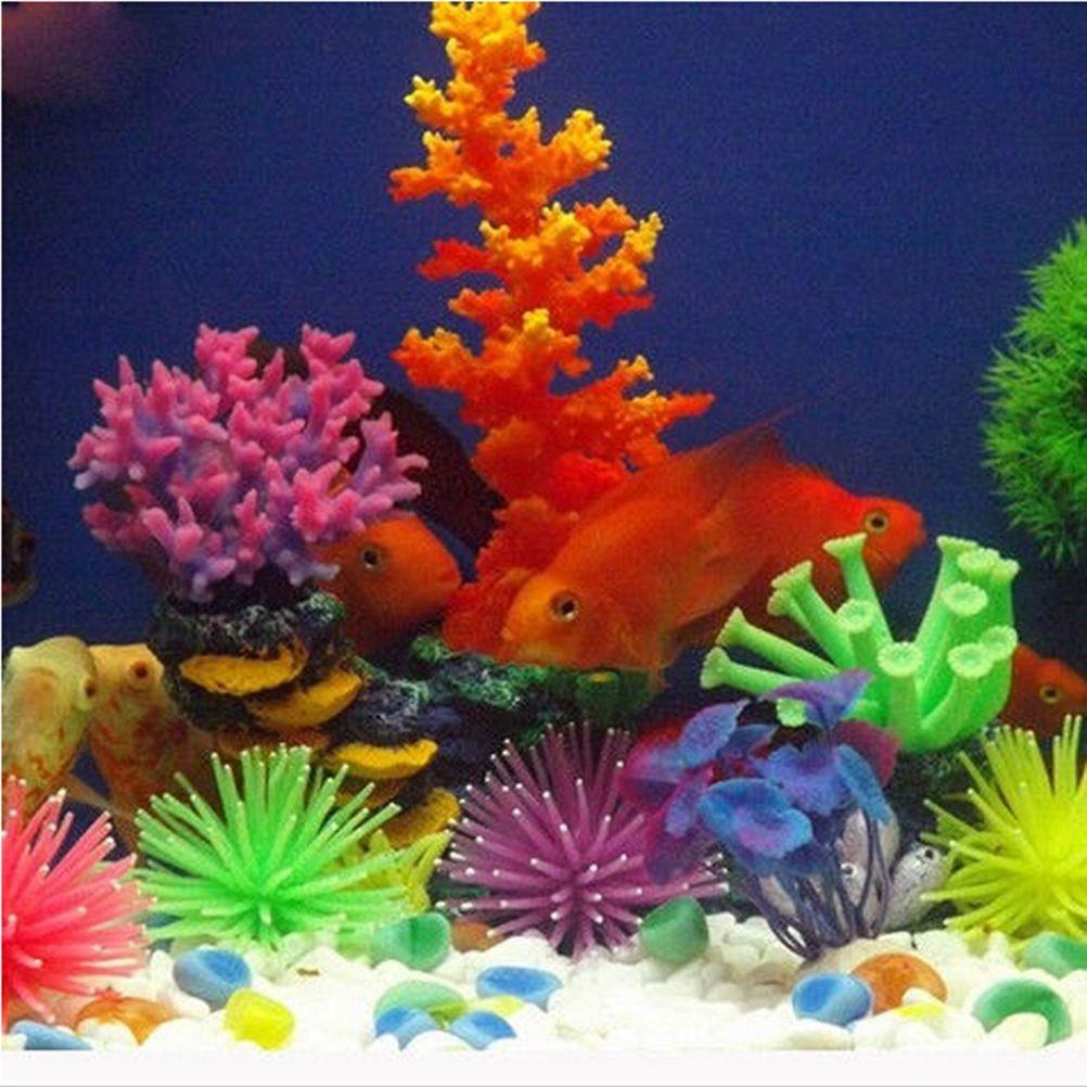 New pc colors available silicone aquarium fish tank artificial