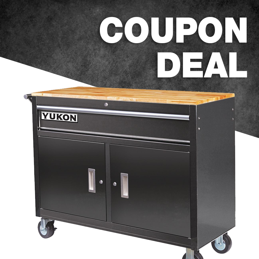 Buy The Yukon 46 In Mobile Storage Cabinet With Wood Top