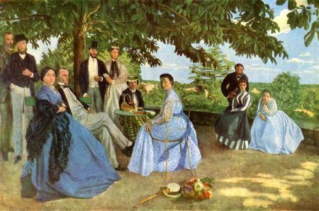 Bazille -La réunion de famille- 1867 http://jpdubs.hautetfort.com/archive/2012/10/31/impressionnisme.html