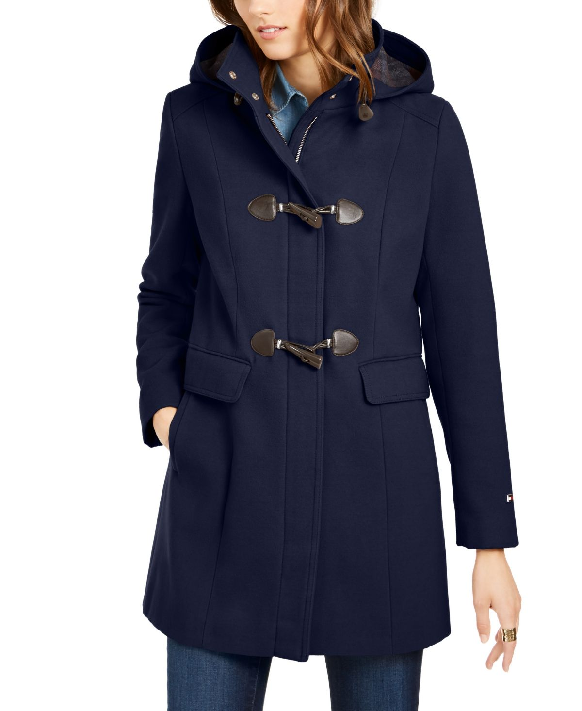 Tommy Hilfiger Hooded Toggle Coat Created For Macy S Coats For Women Coat Toggle Coat [ 1466 x 1200 Pixel ]