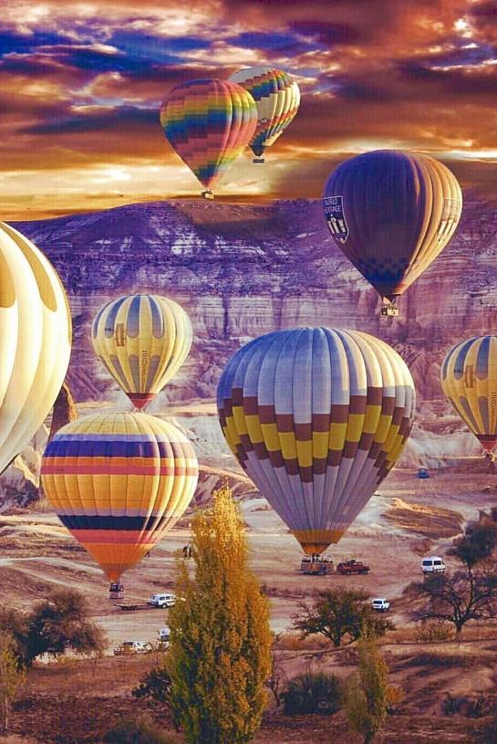 Cappadocia Turkey Hot Air Balloons ~ Gorgeous Photo