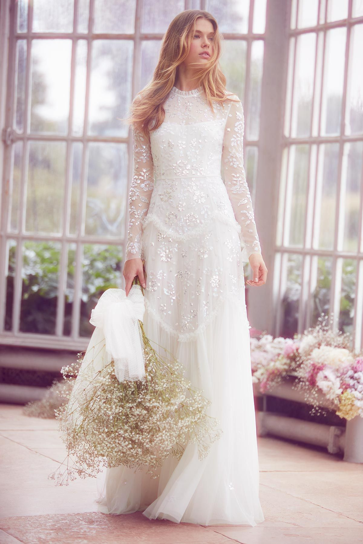 eacadcf6a63 Tiered Gloss Gown - Ivory
